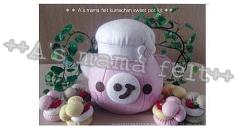 kumachan sweet pot型紙KIT