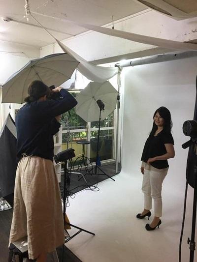 静岡石けん教室プロフィール撮影時