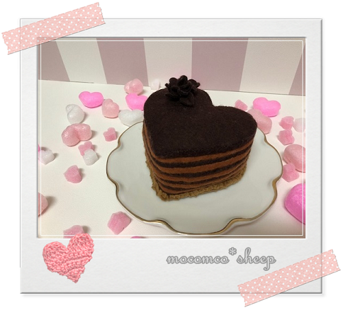 フェルトのカフェスイーツチョコレートケーキ