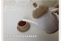 もこもこひつじフェルトのおままごと紅茶